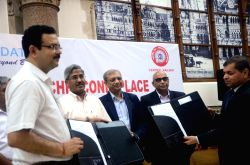 Mumbai Division of Central Railway Divisional Railway Manager (DRM) S.K.Jain, Central Railway General Manager D K Sharma, State Bank of India MD (Retail and Digital Banking) P. K. Gupta, ...