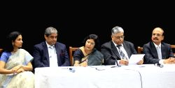 Mumbai: ICICI Bank Managing Director and Chief Executive Officer Chanda Kochhar, HDFC Bank Managing Director Aditya Puri, SBI Chairman Arundhati Bhattacharya, Indian Bank Chairman and Managing ...