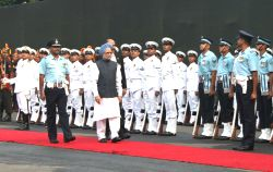 New Delhi,15 August 2010- Prime Minister, Dr. Manmohan Singh inspecting the Guard of Honour at Red Fort, on the occasion of the 64th Independence Day, in Delhi on sunday.