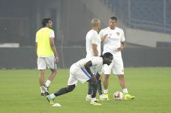 New Delhi:  Chennaiyin FC practice session