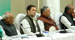 New Delhi: Congress vice president Rahul Gandhi during a party meeting in New Delhi on Feb 5, 2016.