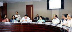 New Delhi: Union Minister for External Affairs and Overseas Indian Affairs Sushma Swaraj chairs the fourth meeting of the Board of Trustees India Development Foundation of Overseas Indians (IDF-OI), ...
