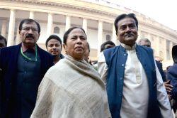 New Delhi: West Bengal Chief Minister and Trinamool Congress chief Mamata Banerjee at the Parliament premises in New Delhi on Dec 18, 2014.