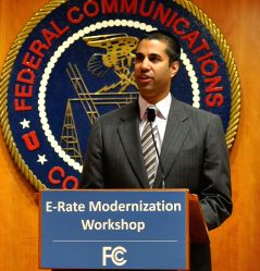 New York: Ajit Pai, a commissioner of the Federal Communications Commission which regulates cellphone spectrum and broadcast, met President-elect Donald Trump on Jan. 16, 2017.