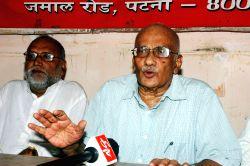 CPI-M leader S. Ramachandran Pillai  addresses a press conference in Patna, on June 10, 2015.