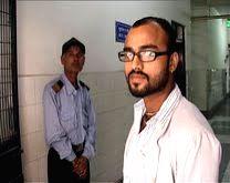 Puneet Gaur, standing inside hospital