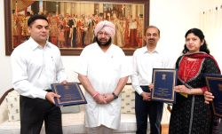 Punjab Government officials sign a Memorandum of Understanding (MoU) with the Government of India (GoI) and Airports Authority of India (AAI) under the country's flagship programme UDAN ...
