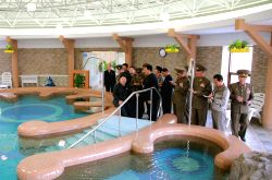 Pyongyang: Kim Jong Un providing field guidance to the completed Yonphung Scientists Rest Home