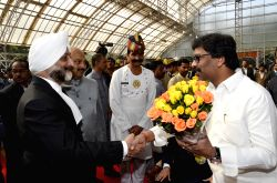 Ranchi: Hemant Soren greets new Chief Justice of Jharkhand High Court