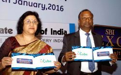 SBI Chairman Arundhati Bhattacharya and National Banking Group MD Rajnish Kumar at the launch of SBI Exclusif Wealth Services and SBI In Cube in Bengaluru, on Jan 14, 2016.