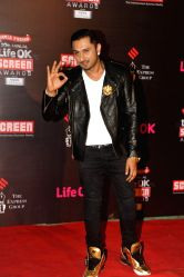 Singer Honey Singh during the 20th Annual Life OK Screen Awards in Mumbai, on January 14, 2014.