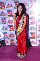 Star cast of television serial Taarak Mehta Ka Ooltah Chashmah during SAB Ke Anokhe Awards 2013 in Mumbai on 19th August 2013 (Photo:::IANS