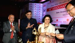 State Bank of India chairman Arundhati Bhattacharya during the 96th Assocham Foundation Day programme in New Delhi on Jan  12, 2016.
