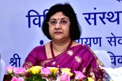 State Bank of India Chairperson Arundhati Bhattacharya addresses during a programme organised at State Bank of Bikaner and Jaipur head office in Jaipur, on June 7, 2016.