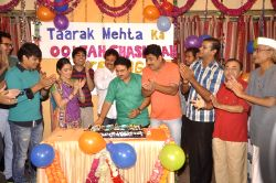 Team celebrate eight years of Taarak Mehta Ka Ooltah Chashmah in Mumbai on July 27, 2015.