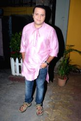Television actor Mandar Chandwadkar on the sets of Taarak Mehta Ka Ooltah Chashmah in Mumbai on Feb.17, 2014.