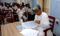 Tripura Chief Minister Manik Sarkar during a CPI-M programme in Agartala on June 27, 2016.