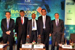 UCO Bank MD and CEO Ravi Kishan Takkar, Citibank Head of Corporate Banking for South Asia Rahul Shukla, SBI MD (National Banking Group) Rajnish Kumar, Confederation of Indian Industry (CII) ...