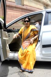 Union Minister for External Affairs Sushma Swaraj at Parliament in New Delhi, on July 21, 2016.