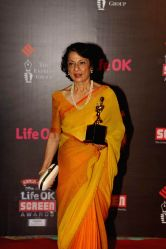 Veteran Actor Tanuja during the 20th Annual Life OK Screen Awards in Mumbai, on January 14, 2014.