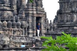 YOGYAKARTA, June 29, 2017 - Former U.S. President Barack Obama (C) visits the Prambanan Temple during a family holiday in Yogyakarta, Indonesia on June 29, 2017. Obama is in Central Java and ...