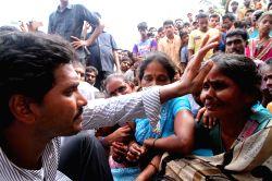 YSR Congress president YS Jagan Mohan Reddy during a public rally in Kakinada of Andhra Pradesh on July 3, 2015.