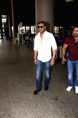Ajay Devgn seen at airport