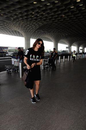 Shama Sikander seen at airport