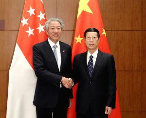 CHINA-BEIJING-ZHANG GAOLI-SINGAPORE-MEETING