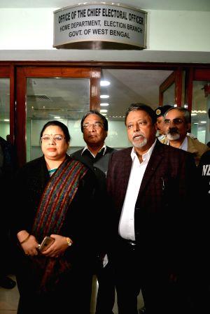 BJP leaders arrive to meet Chief Electoral Officer