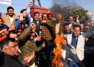 BJP demonstration against hike in electricity tariffs