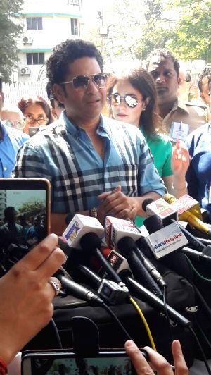 BMC Polls  - Sachin Tendulkar