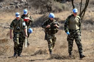 MIDEAST-GOLAN HEIGHTS-UN-MORTAR SHELL-SEARCH