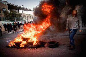 MIDEAST-JERUSALEM-TEVA-PROTEST
