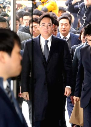 Samsung chief at court