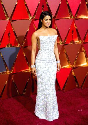 Los Angeles: U.S.-LOS ANGELES-OSCAR-RED CARPET- Priyanka Chopra