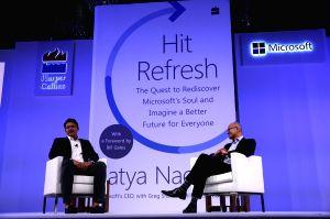 Satya Nadella launches his book 'Hit Refresh