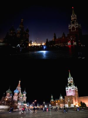 RUSSIA-MOSCOW-EARTH HOUR