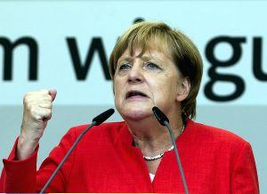 GERMAN-MUNSTER-MERKEL-ELECTION-RALLY