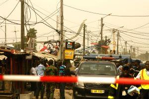COTE D'IVOIRE-PORT BOUET-HELICOPTER-CRASH