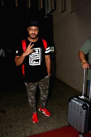 Raftaar spotted at airport
