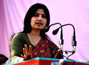 Dimple Yadav's rally