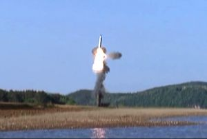 : (220816) N. Korea TV airs missile launch