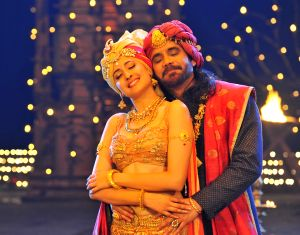 Stills of Telugu film Om Namo Venkatesaya