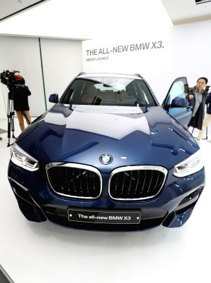 BMW's new SUV debuts in S Korea