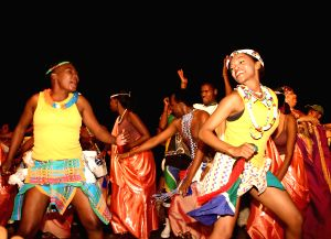 The traditional dancers at the Africa Festival in New Delhi on Tuesday.