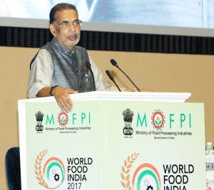 World Food India 2017 - Radha Mohan Singh addresses during a conference