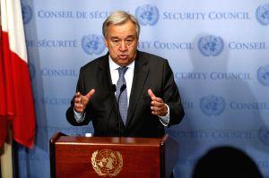 UN-SECRETARY-GENERAL-ANTONIO GUTERRES-PRESS ENCOUNTER