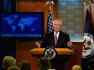 U.S.-WASHINGTON D.C.-TILLERSON-PRESS CONFERENCE
