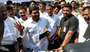 Jaganmohan Reddy talks to press